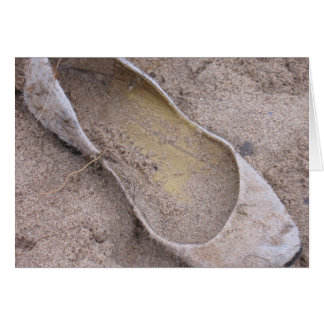 Zapato varado tarjeta de felicitación