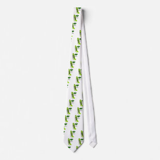 Zapato y corazón Zesty del estilete de la verde Corbatas Personalizadas
