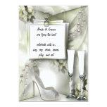 Zapato y perlas - invitación invitación 12,7 x 17,8 cm