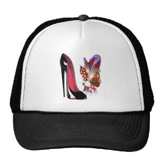 Zapato y ramo negros del estilete gorra