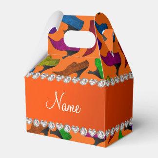 Zapatos anaranjados conocidos personalizados del caja para regalo de boda