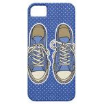 Zapatos azules con los lunares azules iPhone 5 Case-Mate cárcasas