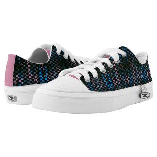 Zapatos azules de la cremallera del rosa Z de MVB Zapatillas
