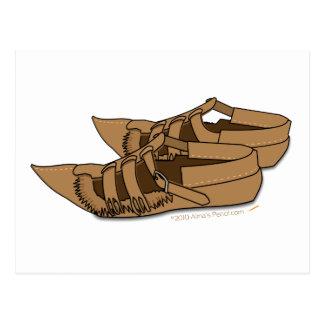 Zapatos balcánicos del baile popular de Opanke Postal