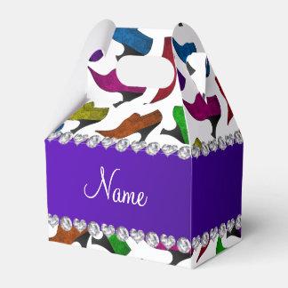 Zapatos blancos conocidos personalizados del caja para regalo de boda