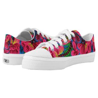 Zapatos bordados mexicano brillante de la materia zapatillas
