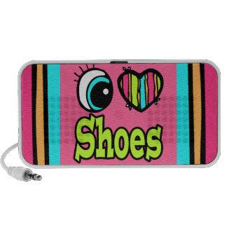 Zapatos brillantes del amor del corazón I del ojo PC Altavoces