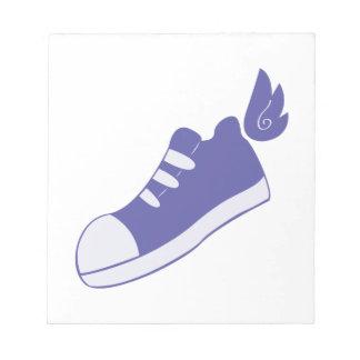 Zapatos cons alas bloc de notas