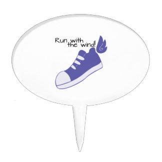 ¡Zapatos cons alas funcionados con con el viento! Palillos De Tarta