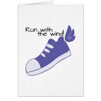 ¡Zapatos cons alas funcionados con con el viento! Tarjeta De Felicitación
