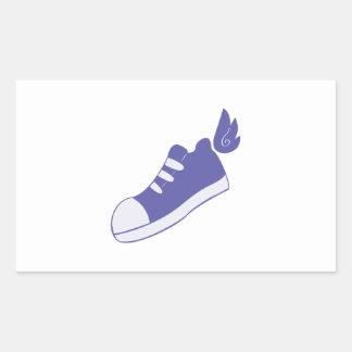 Zapatos cons alas pegatina rectangular