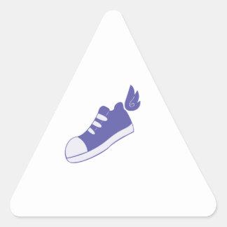 Zapatos cons alas pegatina triangular