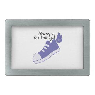¡Zapatos cons alas siempre en camino! Hebillas Cinturon Rectangulares