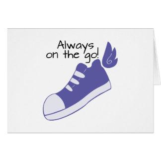 ¡Zapatos cons alas siempre en camino! Tarjeta De Felicitación