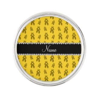 Zapatos de ballet amarillos conocidos de encargo insignia