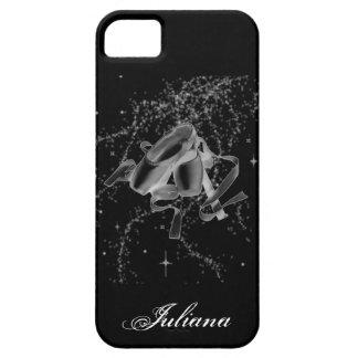 Zapatos de ballet del Grunge en la caja negra del  iPhone 5 Case-Mate Protector