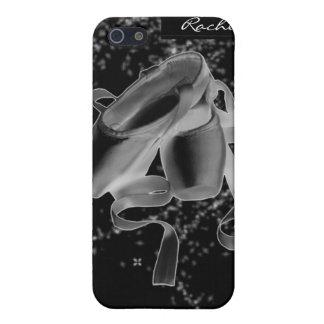 Zapatos de ballet del Grunge en la cubierta negra  iPhone 5 Carcasas