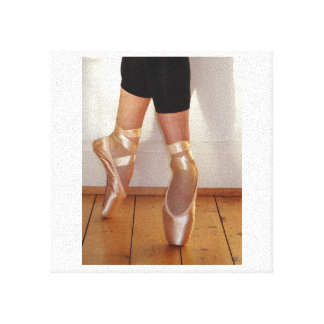 Zapatos de ballet impresiones en lienzo estiradas