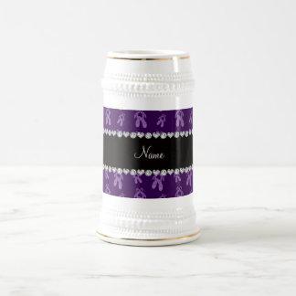 Zapatos de ballet púrpuras conocidos de encargo jarra de cerveza