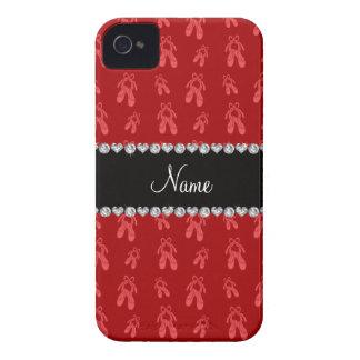 Zapatos de ballet rojos conocidos de encargo iPhone 4 carcasas