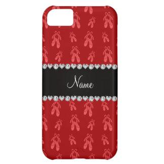 Zapatos de ballet rojos conocidos de encargo funda para iPhone 5C