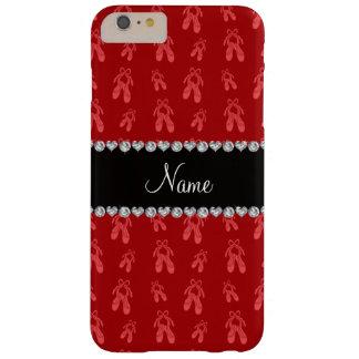 Zapatos de ballet rojos conocidos de encargo funda de iPhone 6 plus barely there