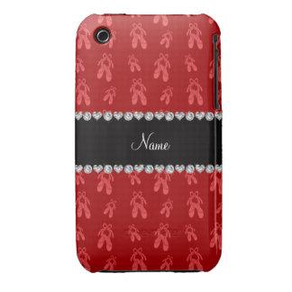 Zapatos de ballet rojos conocidos de encargo iPhone 3 Case-Mate carcasas