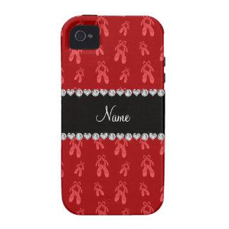 Zapatos de ballet rojos conocidos de encargo iPhone 4/4S fundas