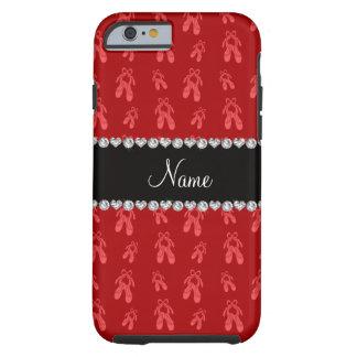 Zapatos de ballet rojos conocidos de encargo funda para iPhone 6 tough