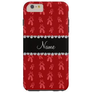 Zapatos de ballet rojos conocidos de encargo funda de iPhone 6 plus tough