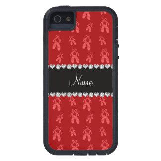 Zapatos de ballet rojos conocidos de encargo iPhone 5 Case-Mate carcasa