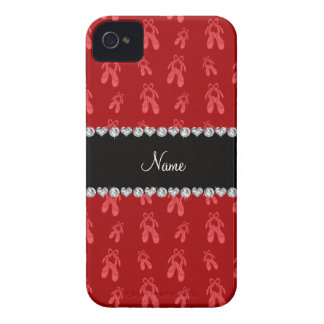 Zapatos de ballet rojos conocidos de encargo iPhone 4 carcasa