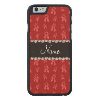 Zapatos de ballet rojos conocidos de encargo funda de iPhone 6 carved® de arce