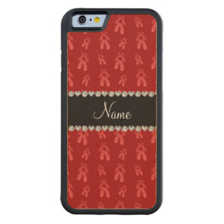 Zapatos de ballet rojos conocidos de encargo funda de iPhone 6 bumper arce
