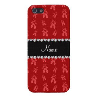 Zapatos de ballet rojos conocidos de encargo iPhone 5 coberturas