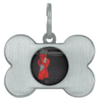 Zapatos de ballet rojos modernos placas mascota