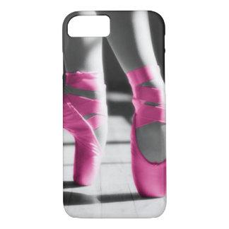 Zapatos de ballet rosados brillantes funda iPhone 7