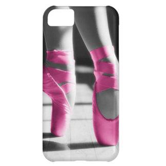 Zapatos de ballet rosados brillantes funda para iPhone 5C