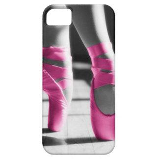 Zapatos de ballet rosados brillantes funda para iPhone SE/5/5s