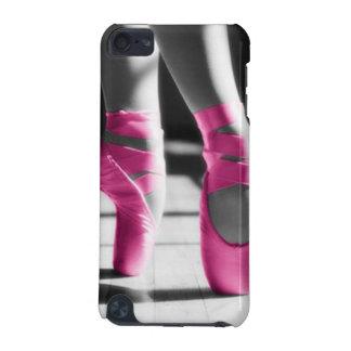 Zapatos de ballet rosados brillantes funda para iPod touch 5
