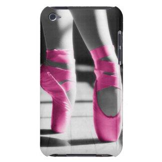 Zapatos de ballet rosados brillantes iPod touch Case-Mate cárcasas
