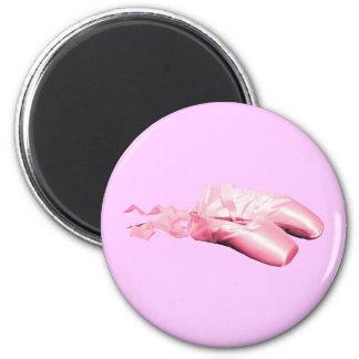 Zapatos de ballet rosados imán redondo 5 cm