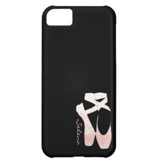 Zapatos de ballet suaves personalizados del rosa d