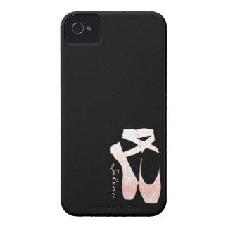 Zapatos de ballet suaves personalizados del rosa d iPhone 4 Case-Mate protector