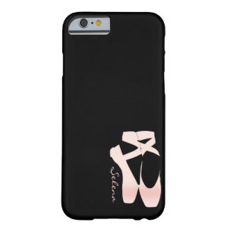 Zapatos de ballet suaves personalizados del rosa funda para iPhone 6 barely there