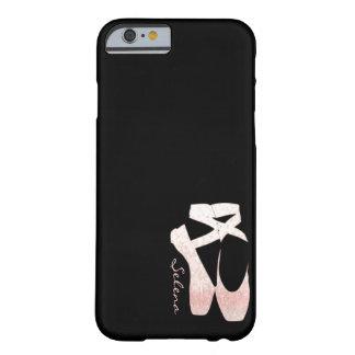 Zapatos de ballet suaves personalizados del rosa funda barely there iPhone 6