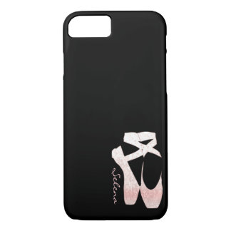 Zapatos de ballet suaves personalizados del rosa funda iPhone 7