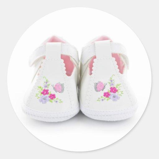 Zapatos de bebé etiqueta redonda