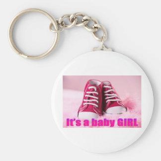 Zapatos de bebé lindos de la niña llavero redondo tipo pin