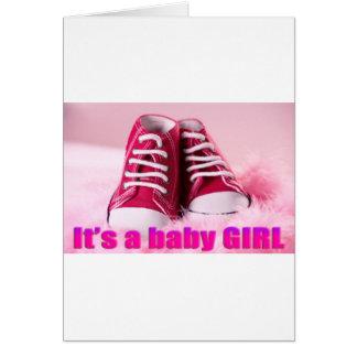 Zapatos de bebé lindos de la niña tarjeta de felicitación